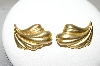 M. Jent Gold Plated Fancy Leaf Pierced Earrings