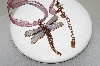 **MBA #88-035   1928 Copper Enameled Dragonfly On A Ribbon Necklace