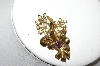+MBA #87-080  Gold Plated Purple & Crystal Rhinestone Pin