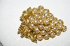 "MBA #92-046 ""Capri Goldtone Faux Pearl ""Grape Cluster"" Brooch"