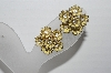 "MBA #92-021 ""Vintage Goldtone Yellow Flower Screw Back Earrings"""
