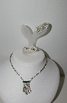 "**MBA #92-024 ""Vintage Clear Rhinestone Set Of 3 Pieces"""