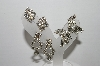 "MBA #95-009 ""Vintage Lot Of 3 Pairs Of Clear Rhinestone Screw Back Earrings"""