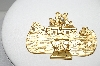 "MBA #97-138 ""Danecraft Goldtone Noah's Ark Brooch"""
