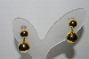 "**MBA #97-093 "" Avon Goldtone Ball Bead Pierced Earrings"""