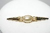 "+MBA #97-042 ""Vintage Goldtone Faux Pearl Pin"""