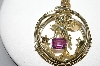 "MBA #97-007 ""Vintage Goldtone Febuary Angel Large Pendant With 20"" Chain"""