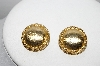 "MBA #97-035 ""Monet Goldtone Round Clip On Earrings"""