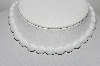"MBA #96-061 ""White Milk Glass Bead Necklace"""