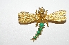 "+MBA #96-143 ""Vintage Goldtone Dragonfly Pin"""