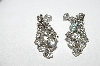 "MBA #96-014 ""Vintage Silvertone Clear Crystal Rhinestone Screw Back Earrings"""