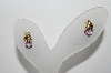 "+MBA #96-022 ""Vintage Gold Plated Amethyst Pierced Earrings"