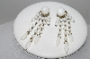 "MBA #96-063 ""Made In West Germany White Milk Glass Screw Back Earrings"""