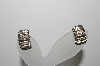 "+MBA #94-093  ""Vintage Silvertone Chubby 1/2 Hoop Clip On Earrings"""