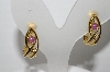 "+MBA #94-091  ""Vintage Gold Plated Fancy Hoop Style Clip On Earrings"""