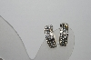 "MBA #94-186  ""Vintage Silvertone Austrian Crystal 1/2 Hoop Clip On Earrings"""