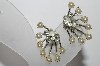"MBA #94-274  ""Vintage Silvertone Faux Pearl & Rhinestone Clip On Earrings"""