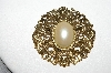"+MBA #94-373 ""Vintage Goldtone Faux Pearl Pin"""