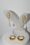 "MBA #94-322  ""Vintage Goldtone Avon & Monet Pierced Earrings"""