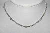 "MBA #94-051  "" Monet Silvertone LIght Lavender & Clear Rhinestone Necklace"""
