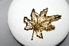 "+MBA #94-377 ""Vintage Gold Plated Fancy Leaf Pin"""