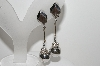 "MBA #94-148  ""Lewis Segal Silvertone Ball Drop Clip On Earrings"""