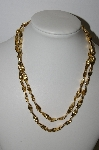"MBA #94-112  ""Vintage Goldtone Fancy Linked Necklace"""