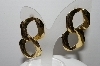 "+MBA #94-060  ""Vintage Goldtone Two Part Pierced Earrings"""