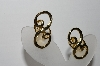 "+MBA #94-201  ""Vintage Goldtone Scroll Look Clip On Earrings"""