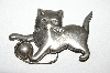 "MBA #94-042  ""Lang Sterling 1950's Cat Pin"""