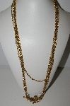 "MBA #94-199  ""Vintage Gold Plated 3 Row Chain Necklace"""