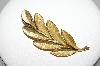 "MBA #93-018  ""Trifari Goldtone Leaf Pin"""