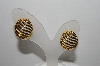 "+MBA #93-066 ""Vintage Goldtone Chubby 1/2 Hoop Pierced Earrings"""