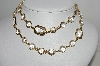 "MBA #93-121  ""Vintage Goldtone Clear Glass & Acrylic Necklace"""