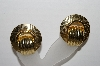 "+MBA #93-059  ""Vintage Large Goldtone Clip On Earrings"""