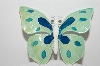"+MBA #98-081  ""Vintage Made In West Germany Enameled Butterfly Pin"""