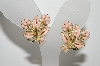 "MBA #98-039  ""Coro Goldtone Enameled Flower Clip On Earrings"""