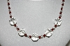 "MBA #98-015  ""Vintage Red & Clear Crystal  Bead Necklace"""