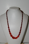 "MBA #98-406  ""Vintage Amber Colored Acrylic Bead Necklace"""