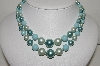 "MBA #98-050  ""Vintage Made In Japan Multi Shades Of Blue Bead Necklace"""