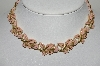 "MBA #98-230  ""Coro Goldtone Enameled Flower Necklace"""