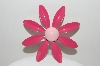 "+MBA #98-055  ""Vintage 2 Shades Of Pink Flower Pin"""