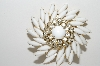 "**MBA #98-078  ""Judy Lee White Milk Glass & Rhinestone Fancy Pin"""