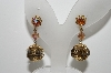 "MBA #99-646  "" Verdome Goldtone AB Crystal Ball Drop Earrings"""