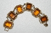 "MBA #99-702  ""Vintage Sarah Coventry Brown Glass Link Style Bracelet"""
