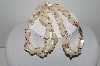 "MBA #99-535  ""Vintage White & Pink Mother Of Pearl Fancy Bead Necklace"""