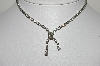 "MBA #99-138  ""Vintage Silvertone Clear Crystal Rhinestone Necklace"""