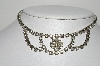 "MBA #99-369  ""Vintage Silvertone Fancy Clear Crystal Rhinestone Necklace"""