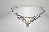"MBA #99-139  ""Vintage Silvertone Clear Crystal Rhinestone Necklace"""