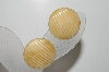 "**MBA #41E-195  ""Vintage Cream Colored Thermoplastic Clip On Earrings"""